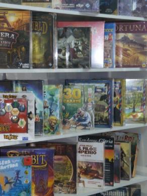 Pequeña selección de los juegos de mesa de la tienda.