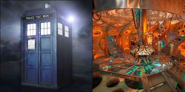 TARDIS interior-exterior