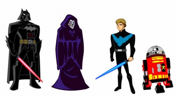 Batman en Star Wars