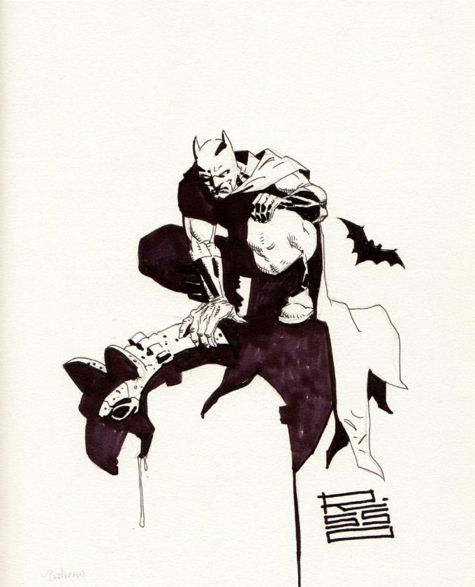 Boceto de Batman, por Eduardo Risso
