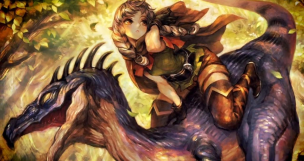 dragons-crown-elfa-cabalgando-un-dinosaurio
