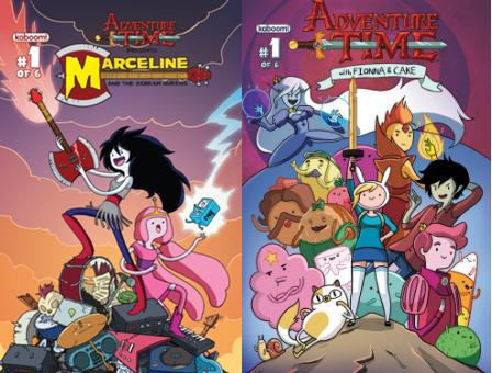 Marceline y las divas del terror y Fionna y Cake de Hora de Aventuras