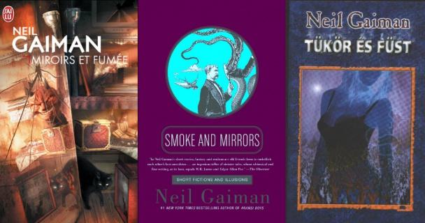 Portadas de Humo y Spejos (Smoke and Mirrors) de Neil Gaiman