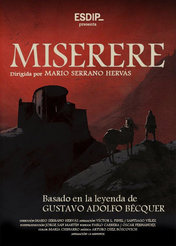 "Póster de ""El Miserere"" de la ESDIP"