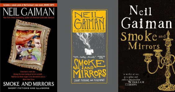 Portadas de Humo y Spejos (Smoke and Mirrors) de Neil Gaiman