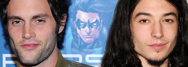 nightwing batman vs superman candidatos actores penn badgley ezra miller