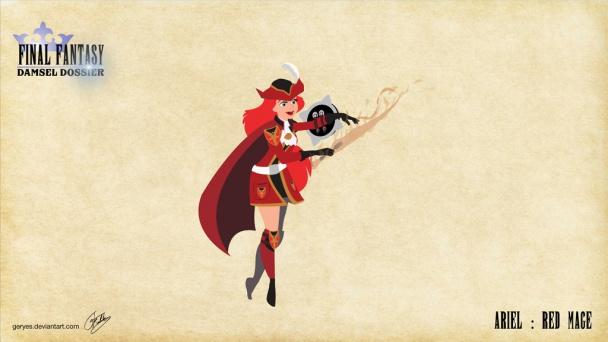 Ariel como Maga Roja