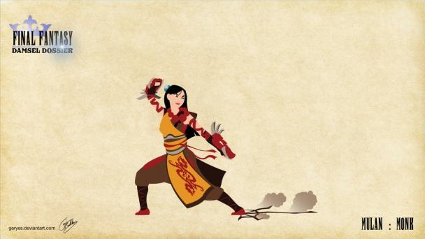 Mulan como Monje