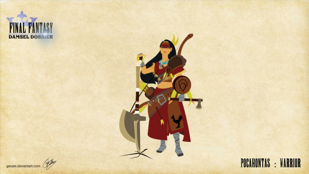 Pocahontas como Guerrera