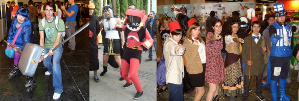 Cosplay de Doctor Who, FLCL y Scott Pilgrim