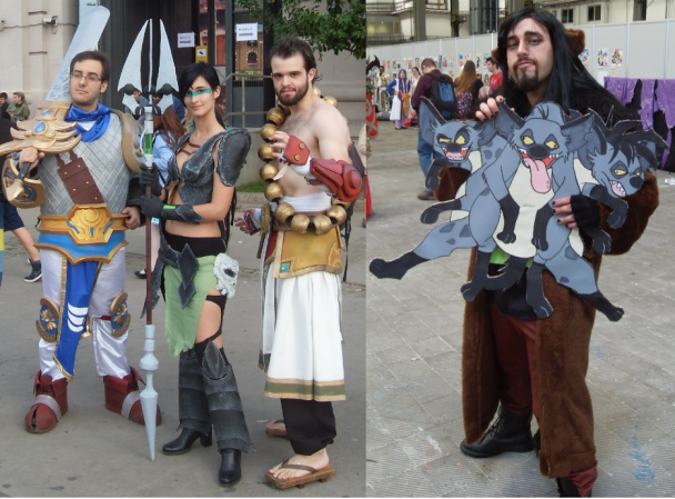 Cosplays del videojuego League of Legends y de Scar humanizado, de El Rey León (disney)