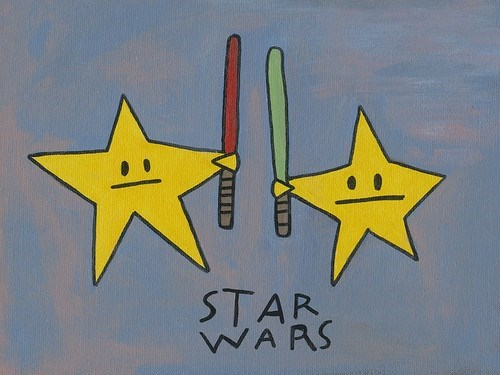 star wars estrellas con espadas