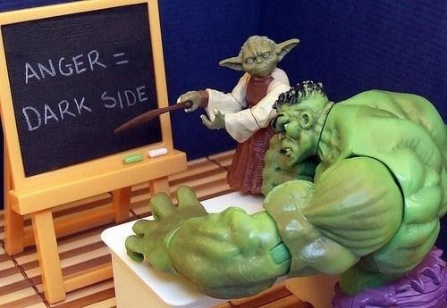 yoda enseña a hulk