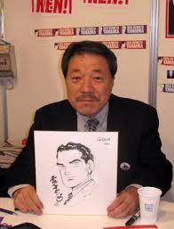 Kawaguchi con un boceto de Yamaoka