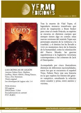 Cronicas de Legion ficha