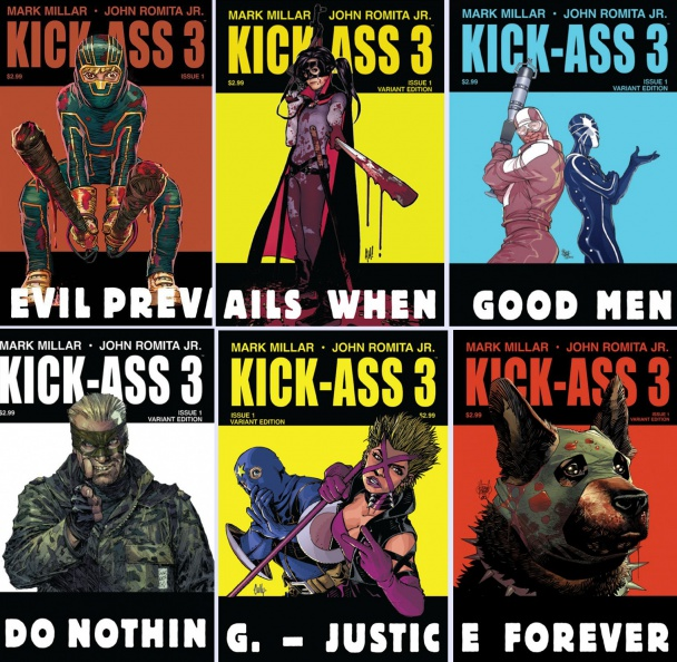 Kick Ass 3 #1 collage