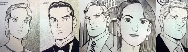 """Algunos personajes de """"Eagle"""""""