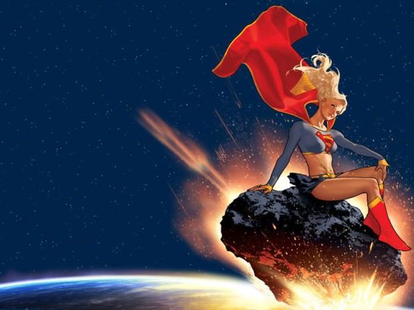adam hughes supergirl wallpaper