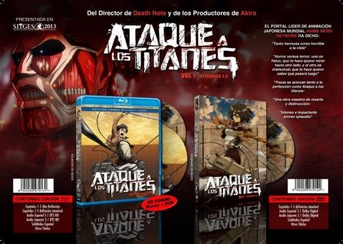 """Los estuches de las ediciones en Blu-ray y DVD de Selecta Visión para """"Ataque a los Titanes"""""""