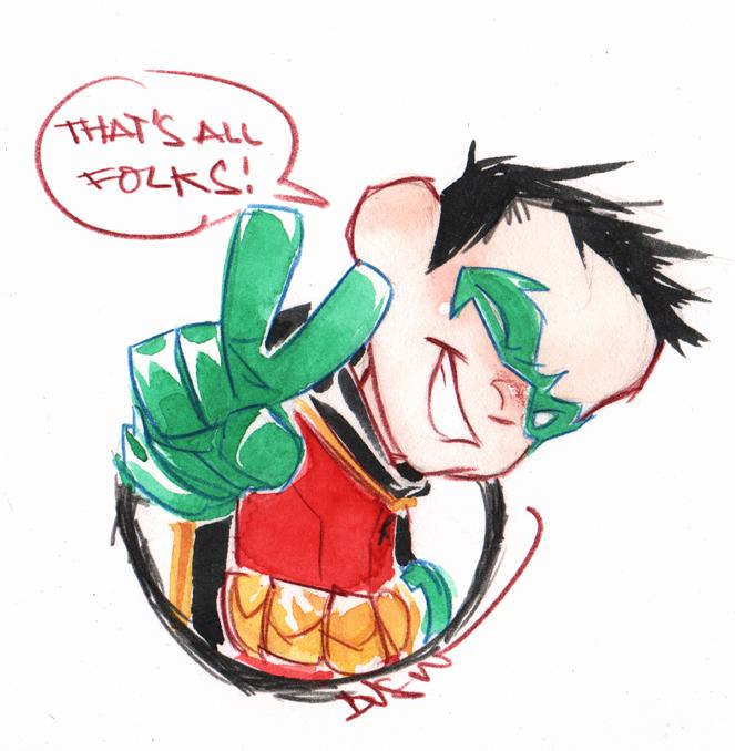 Dibujo dedicado a los fans, por Dustin Nguyen