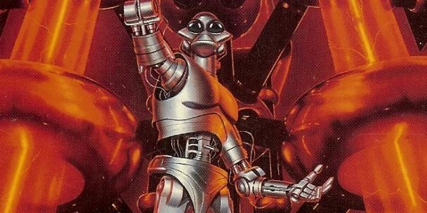 "Idealización de un robot del relato ""Atrapa esa Liebre"" incluído en ""Yo, Robot"""