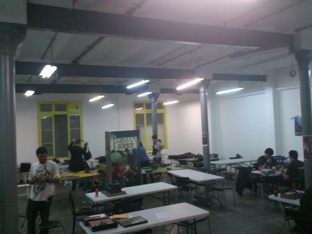 Zona de juego del sótano de Kaburi