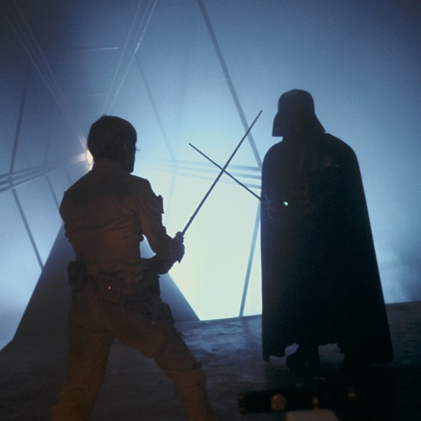 Foto del rodaje del Episodio VI