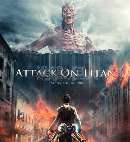 """Cartel no oficial de un live action de """"Ataque a los Titanes"""""""
