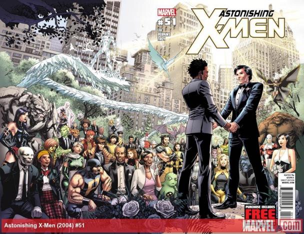 Estrella del Norte y Kyle en Astonishing X-Men #51