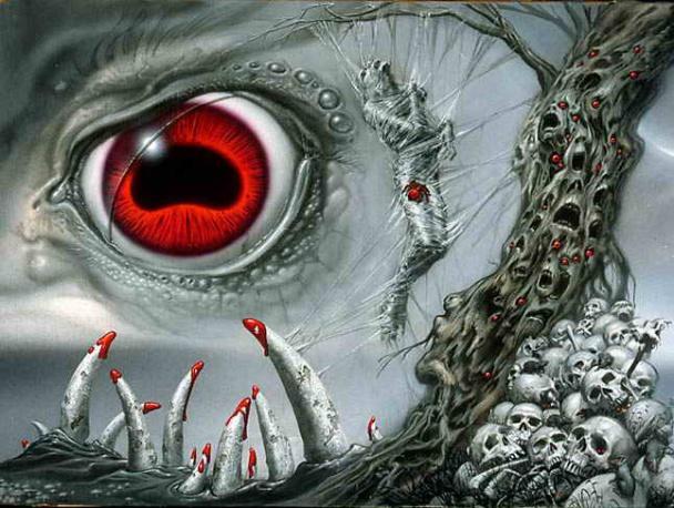 Ilustración para un libro de Lovecraft