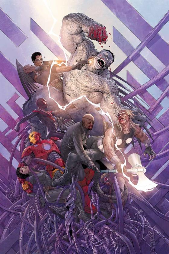 "Portada para el último número de ""Cataclysm: Ultimate Comics"" de Enero"