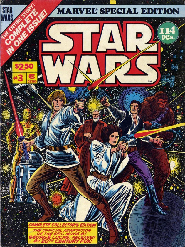 Antigua edición de Marvel para un cómic de Star Wars