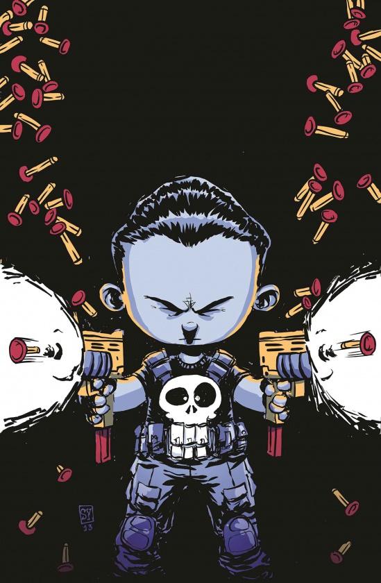 Portada Alternativa de Skottie Young de The Punisher #1