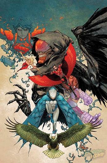 Teen Titans #30, portada de Kenneth Rocafort