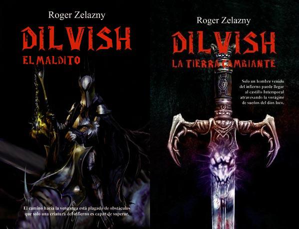 Dilvish, el maldito + La tierra cambiante de Roger Zelazny, portadas de La Factoría de Ideas