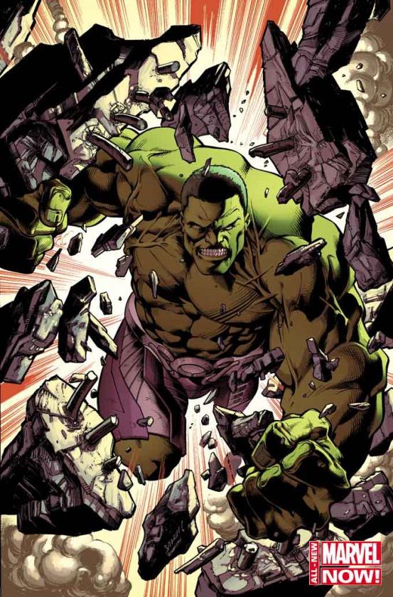 Impactante cubierta variante para el #1 de Hulk de Bagley y Waid