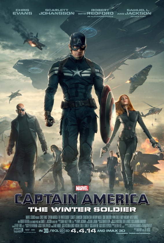 Capitan america 2 poster grupal