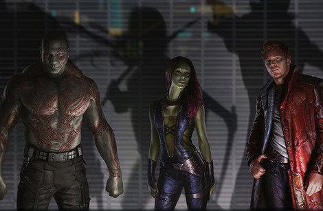 Drax Gamora Peter Quill Guardianes de la