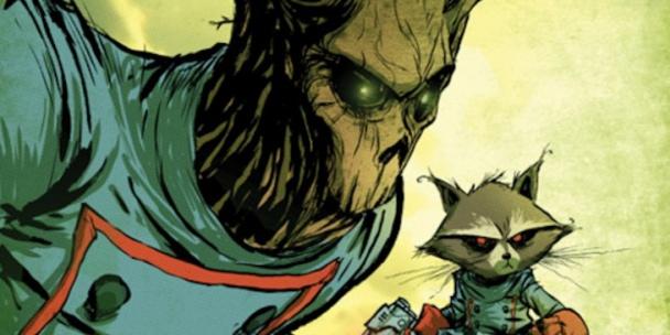 Groot y Mapache Cohete Guardianes de la