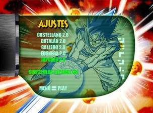 Menu Audio Dragon Ball Z