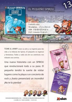 Pequenyo Spirou 13 nota de prensa
