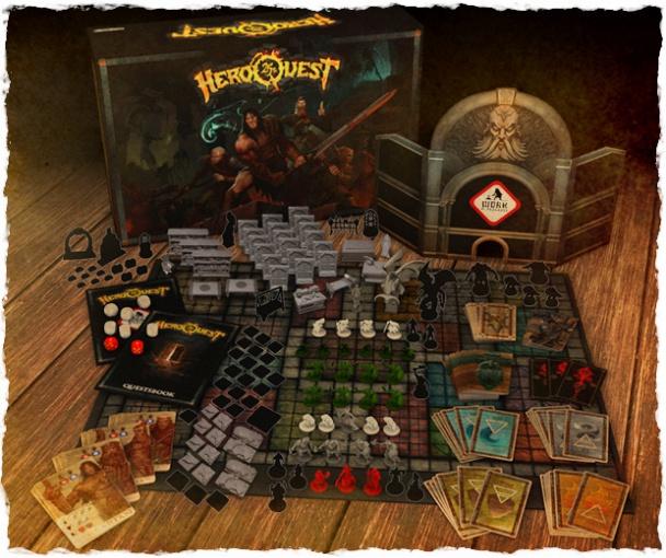 contenido de la caja heroquest 25 aniversario