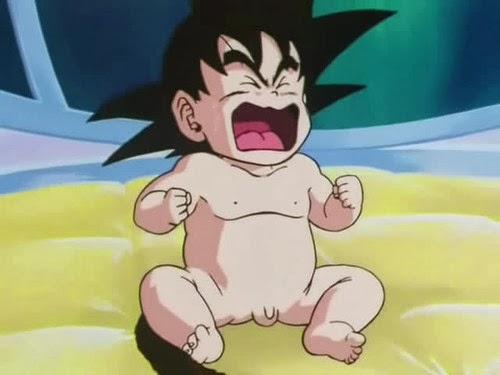 Goku recién nacido