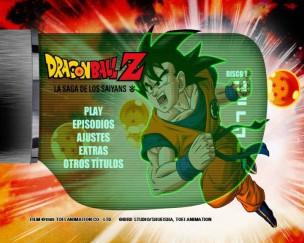 menu del disco uno de  Dragon Ball Z