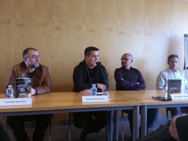 De izquierda a derecha: Rodolfo Martínez, Ricard Ruiz Garzón, Juan Miguel Aguilera, Ismael Biurrun