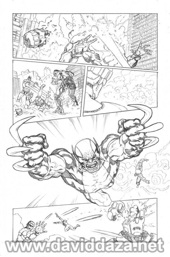 SAMPLES X-Men 2013 pencil low 04