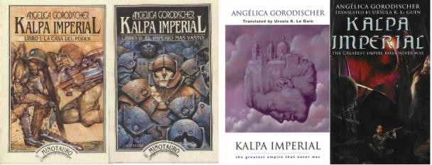 Portadas de Kalpa imperial de Angélica Gorodischer