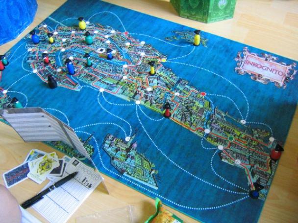inkognito mapa de venecia tablero de juego