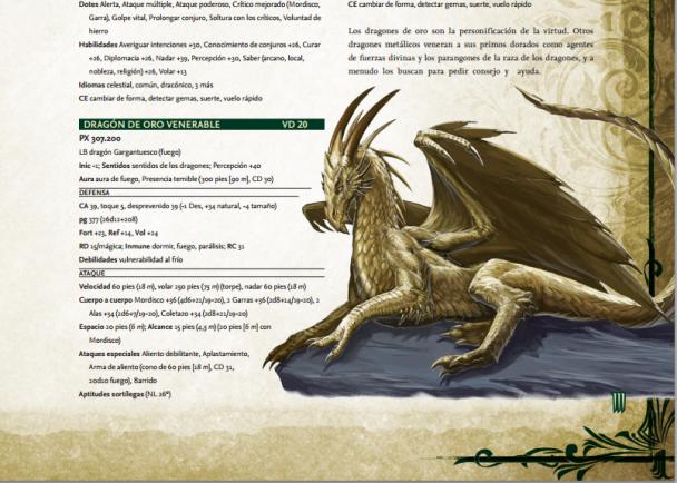 Detalle de una de las páginas en castellano