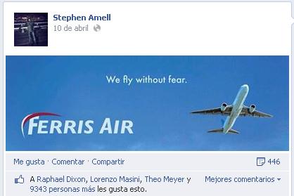 Arrow - Ferris easter egg (facebook)